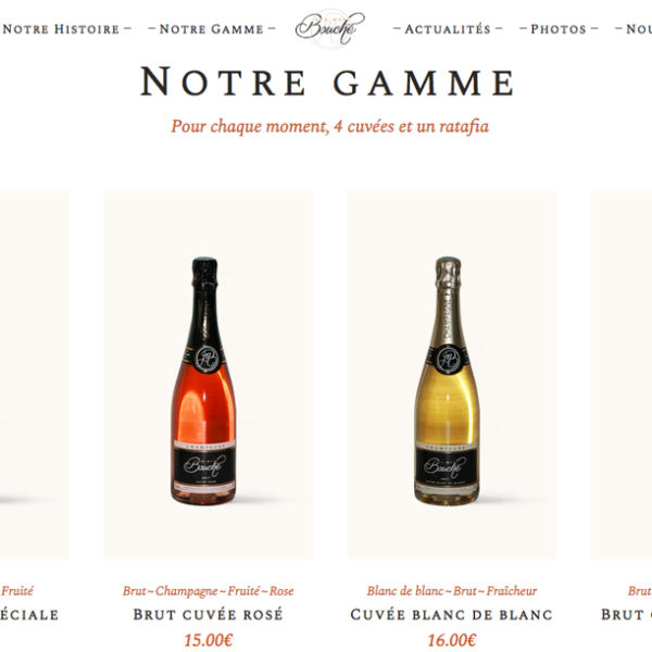 Champagne Jean-Marc Bouché e-commerce