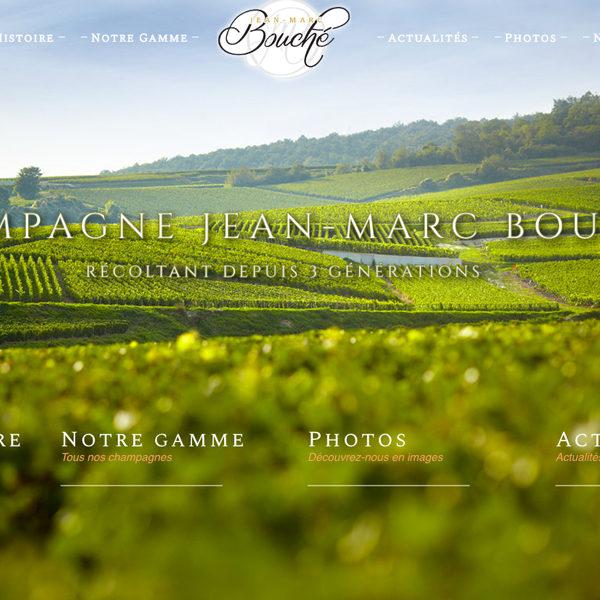 Site e-commerce Champagne Jean-Marc Bouché